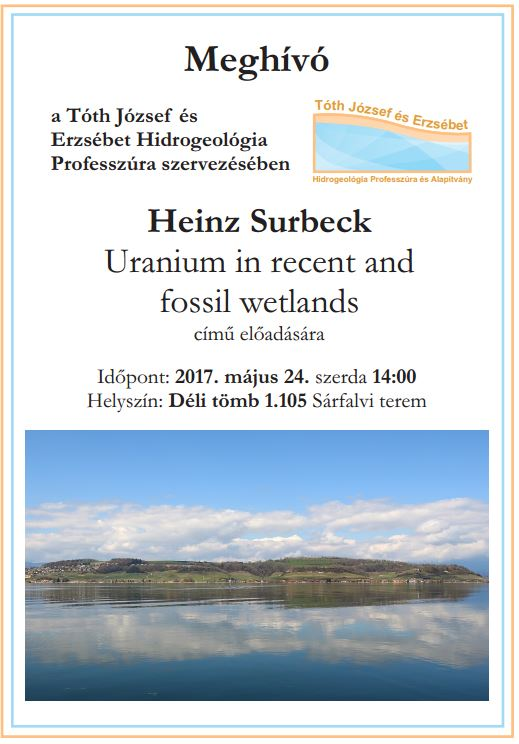 Heinz Surbeck: Uranium in recent and fossil wetlands